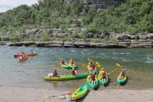 Kayak dans les rivières de l'Hérault avec LSF